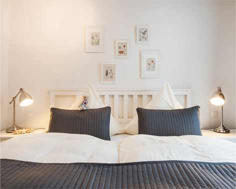 Ferienwohnung Auszeit Schlafzimmer